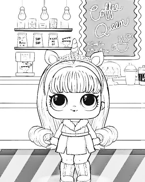 Novye Lol Lol Raskraska 5 Seriya 6 Seriya 7 Seriya Cool Coloring Pages Unicorn Coloring Pages Lol Dolls