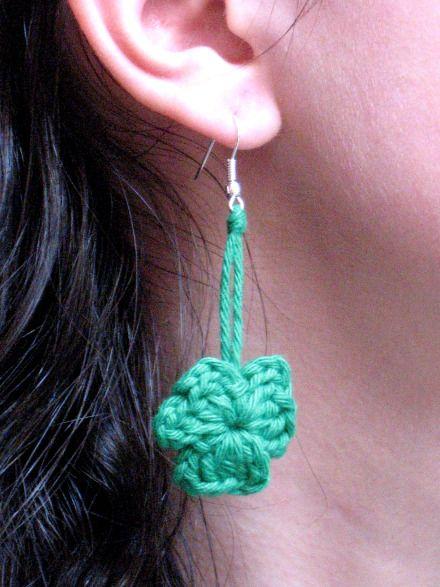 Shamrock Earrings by www.bennelle.com