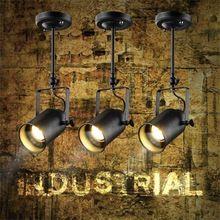 Loft Vintage Led Feux De Piste En Fer Forge Plafond Lampes Vetements Bar Cob Spotlight Industriel Americain St Suspension Vintage Rampe De Spots Deco Luminaire