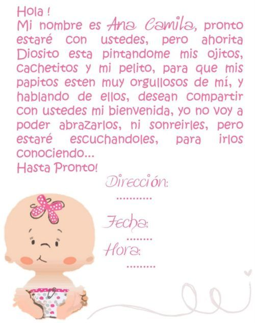 Invitaciones Con Frases Bonitas Para Baby Shower Tarjetas