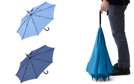 UnBrella Upside Down Umbrella makes more sense than a regular one when getting out of the car!