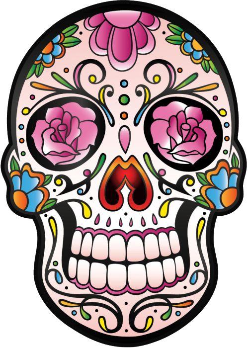 Sticker calavera tete de mort mexicaine 5 mpa d co autocollants calavera - Tete mort mexicaine ...