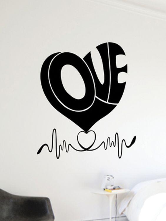 #Vinilo de #amor para #decorar el #dormitorio
