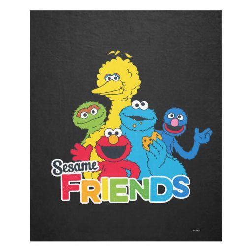 Sesame Street Sesame Friends Fleece Blanket Zazzle Com Big