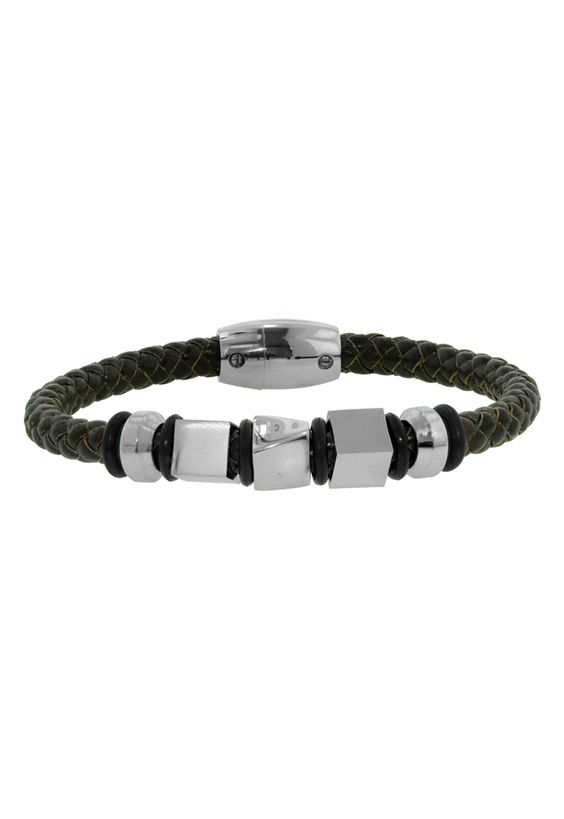 #Effy Jewelry Gento Braided Brown #Leather & Stainless Steel #Bracelet