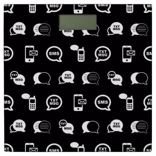 Cell Phone Text Message Amp Email Themed Black Bathroom Scale From Vintage Atmosphere In 2020 Phone Text Message Text Message Icon Text Messages