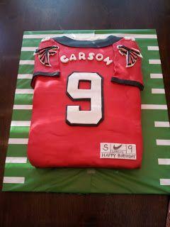Cheap NFL Jerseys Online - Southern Grace-Atlanta Falcons Football Party-Jersey Cake   party ...