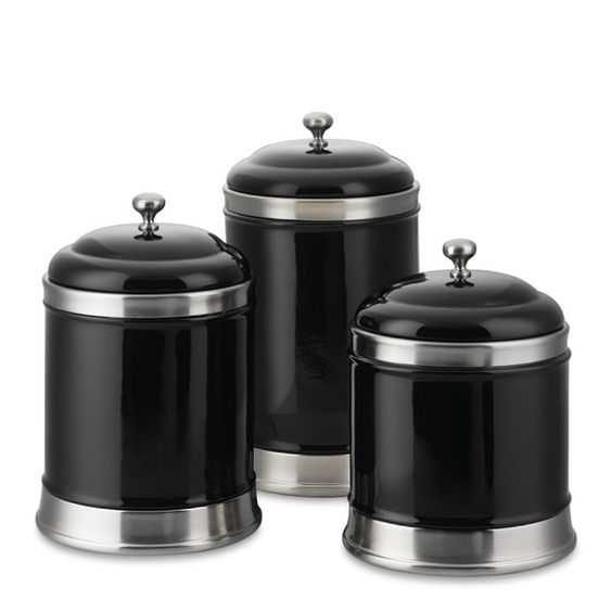 black kitchen canister set - 28 images - black kitchen