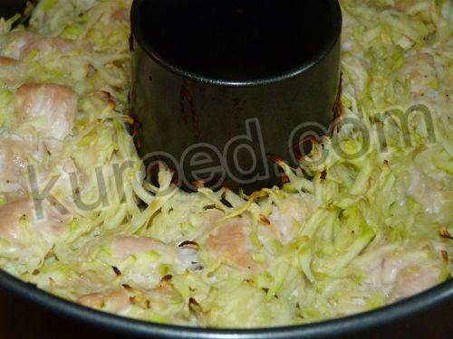 Запеканка куриная с кабачком картофель