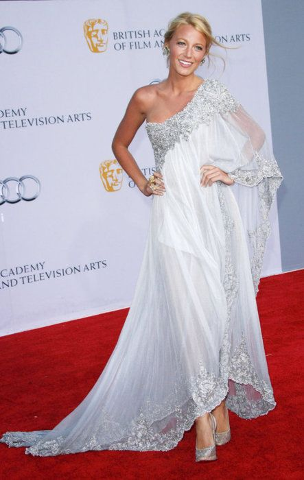 Blake Lively White Marchesa Gown...i think this would be a really cool wedding dress