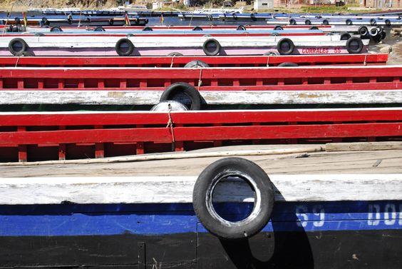 Estrecho de Tiquina, Lago Titicaca.