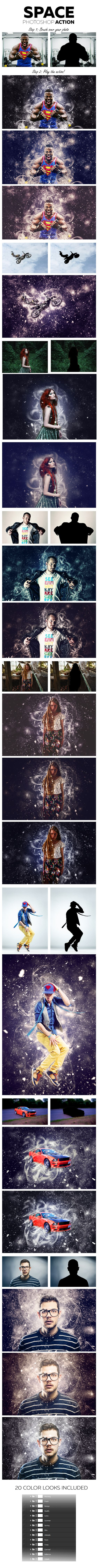 Space Photoshop Action #photoeffect Download: http://graphicriver.net/item/space-photoshop-action/12165749?ref=ksioks