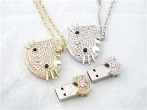 Hello Kitty necklace flash drive