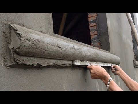 Amazing Construction Skills Rendering Sand And Cement Installing New Windows Youtube Cement Work Cement Panels Cement
