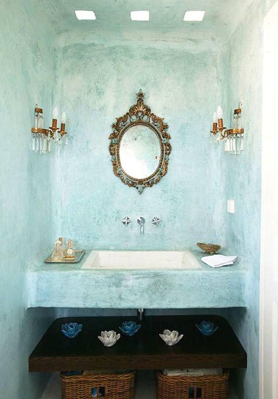 cuarto de baño exótico
