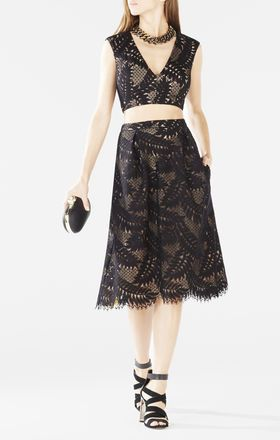Tyrah Lace Cutout Two-Piece Dress