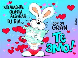 Imagen de amor con un conejito lleno de corazones - http://www.imagenesdeamor.pro/2013/08/imagen-de-amor-con-un-conejito-lleno-de-corazones.html