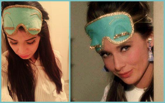 Love it! Holly Golightly/Audrey Hepburn Breakfast at Tiffany's Sleeping Mask. $30.00, via Etsy.