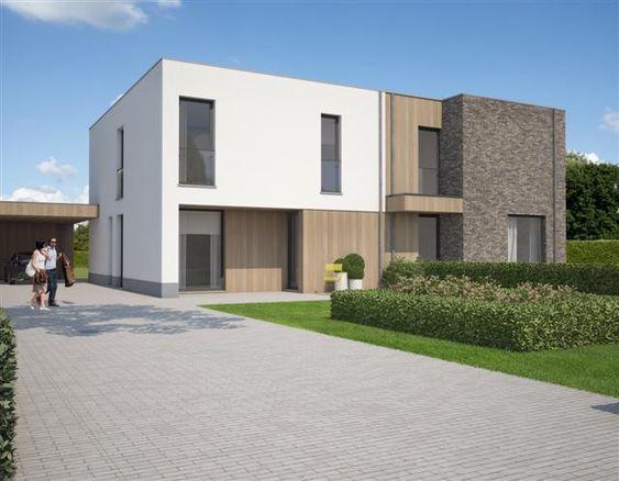 Halfopen bebouwing modern hout google zoeken huizen pinterest google met and search - Plan indoor moderne woning ...