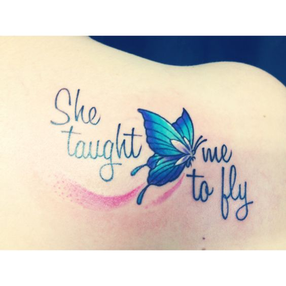 My half of the mother daughter tattoo my mom and I got ! Love it :)