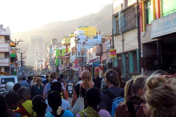 Fullmoon walk Tiruvannamalai (India)  Photo: Hanne Torgersen