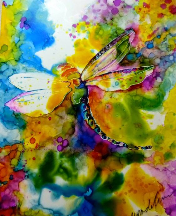 Learn to paint with Alcohol Inks