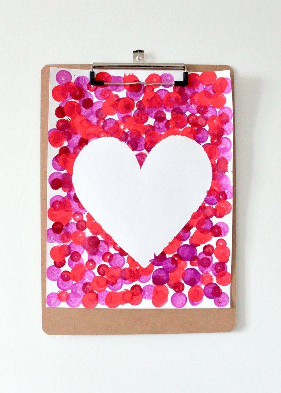DIY Heart Crafts | Valentines Day Activities for Kids | Valentines Day Crafts | Mix Media Art for Kids | Children's Arts and Crafts | Toddler Art Activity | Activities Using Bingo Dauber
