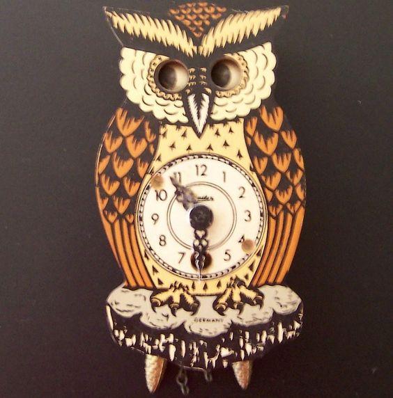 Vintage German Owl Cuckoo Clock Vintage Clock And Coo