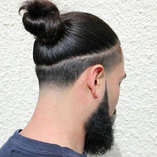 37+ Man bun with fade ideas in 2021