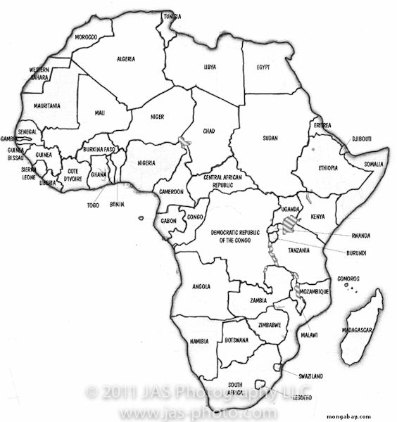 Little Einstein S Birthday Party Decorations Activities Free Downloads Africa Map Political Map African Map Africa geography worksheets