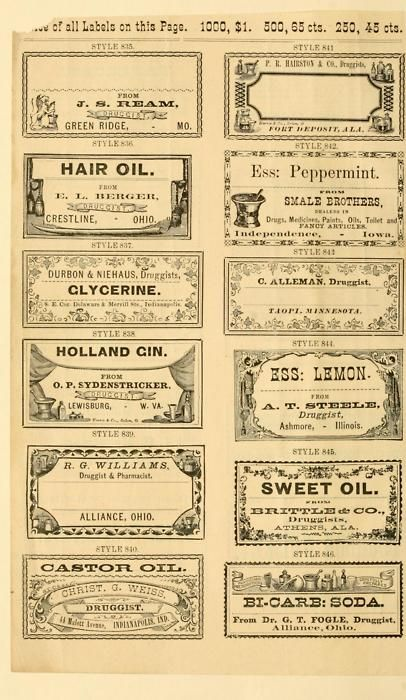 interesting vintage labels