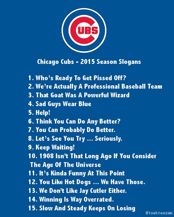 chicago cubs picture jokes | The Chicago Cubs have unveiled their ...