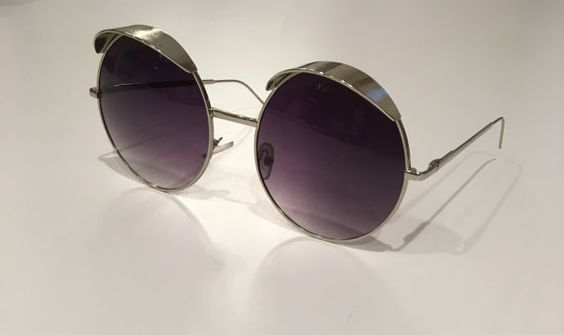 Round Shade Vintage Sunglasses by ThriftedGal on Etsy