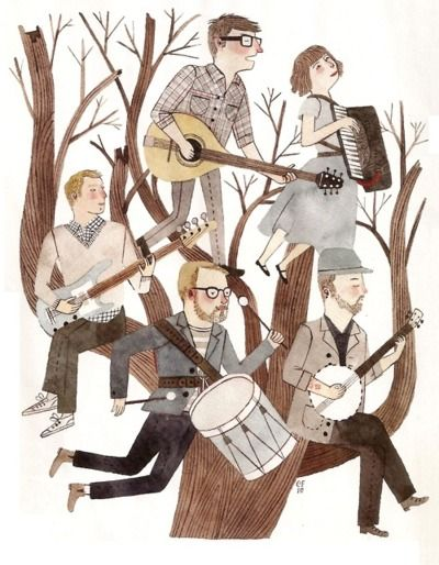 the decemberists by carson ellis  MUST illustrate favourite bands/musicians