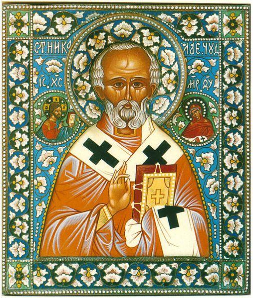 Icône Russe De Saint Nicolas Source Wiki Saint Nicolas Histoire Médiévale Père Fouettard