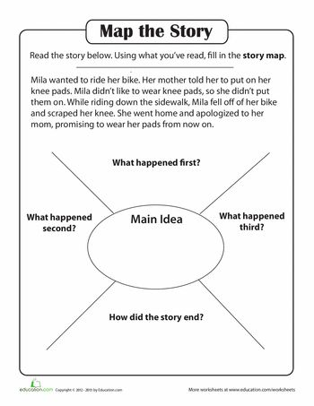 Printables Story Comprehension Worksheets story comprehension create a map first grade reading worksheets map