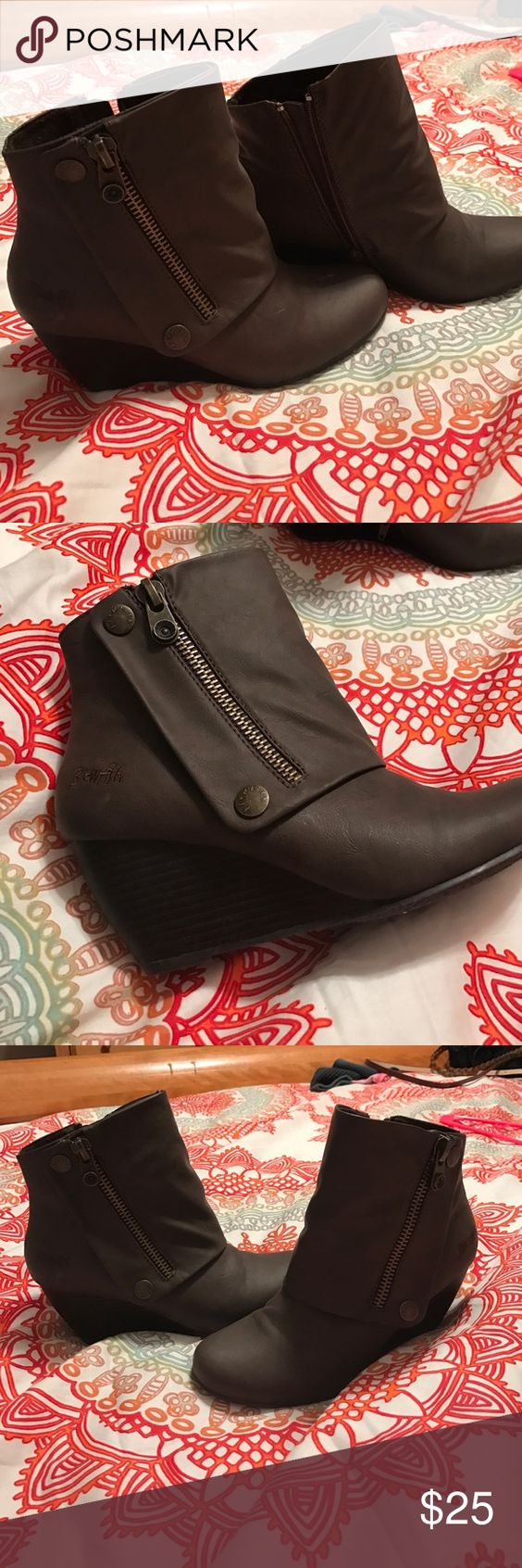 Blowfish Brown Booties Worn once, super cute and comfortable booties. Blowfish Shoes Ankle Boots & Booties