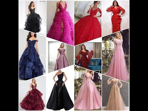 مجموعة فساتين سهرة مميزة ومختلفه كوني جميلة وجذابة مع اجمل تصميماتنا Youtube Dresses Evening Dresses Photo