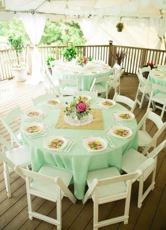 Decoración de boda rosa y verde menta - Boda elegante y alegre 1