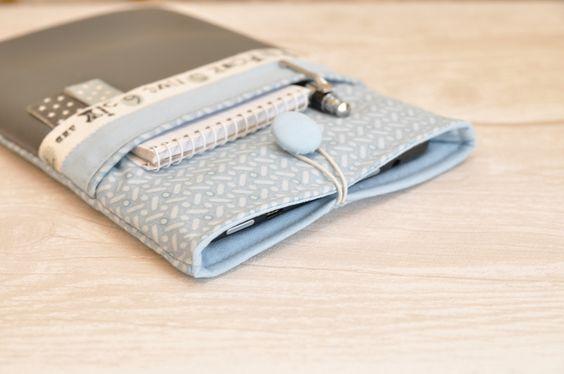 Tablet-PC-Taschen - Hülle für iPad / Kindle / Tablet / eReader grey - ein Designerstück von _Sommerfrische_ bei DaWanda