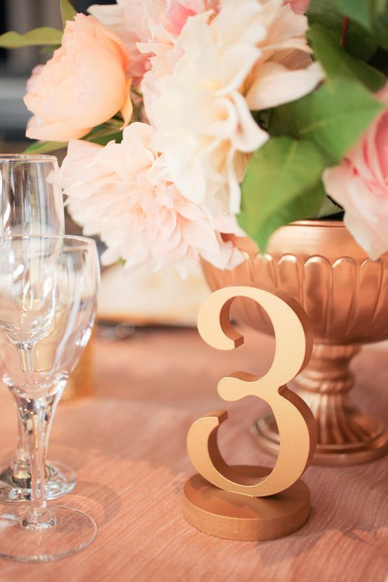Gold Wedding Table Numbers for Weddings and Events Wedding Decor for Wedding Table Numbers, Wedding Signs (Item - NUM110)