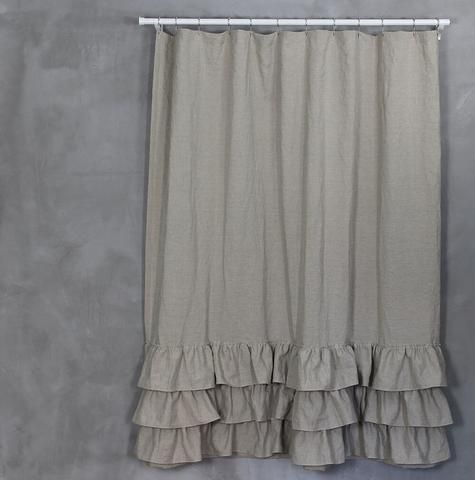 Linen Ruffles Shower Curtain Ruffle Shower Curtains Curtains Vinyl Shower Curtains