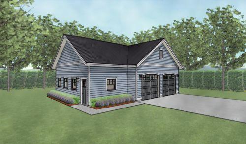 Double Car 2 Car Garage Plans With Shop 38 X 28 Garage Plans Garage Plans Detached 2 Car Garage Plans