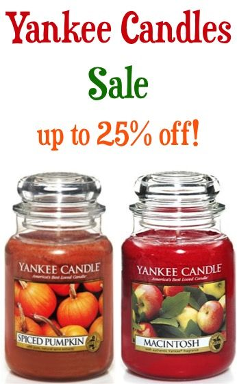 Do you love the amazing aroma of Yankee Candles?? If so, be sure to check out these Yankee Candles on Sale, including fun Fall scents!