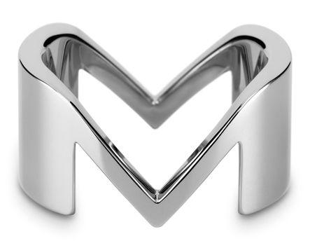 M Alphabet In Heart alphabet ring... the l...