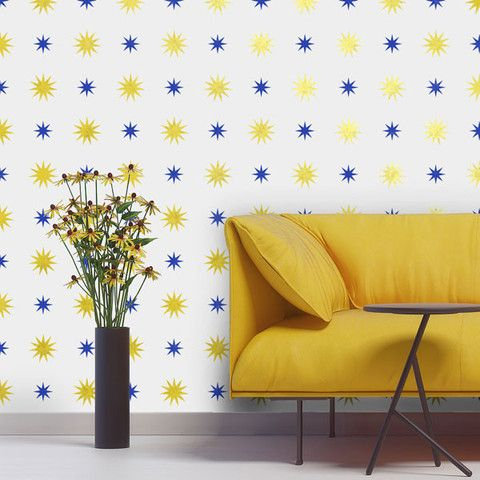 Modern Wall Stencil | Starry Night Polka Stars | Royal Design Studio. (Posting because I know I'll use this design somewhere)