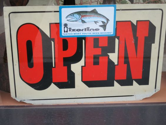 OPEN (red with fish)