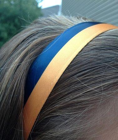 One Up Navy and Yellow Stripe Non Slip Headband