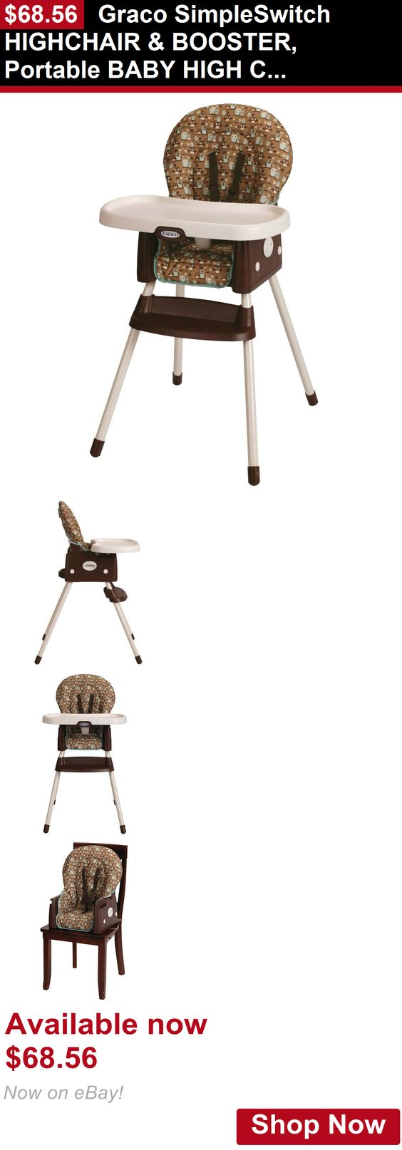 Baby High Chairs: Graco Simpleswitch Highchair And Booster, Portable Baby High  Chair, Little
