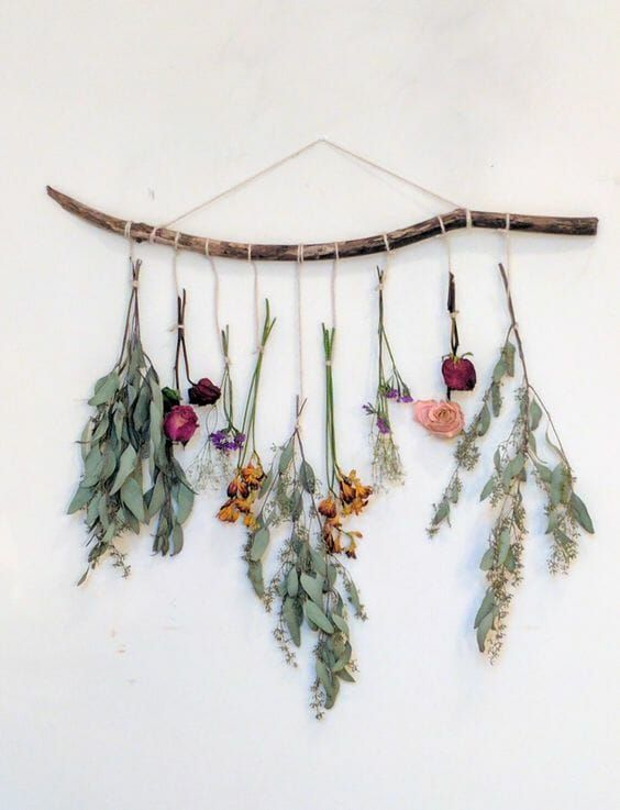 18 Cheap And Easy Ways To Decorate Your Walls In 2021 Hanging Flower Wall Creative Wall Decor Wall Hanging Diy Flower wall decor for bedroom